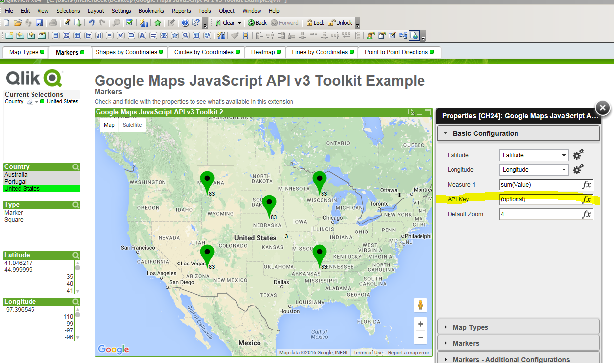 working qlikview maps extension example michael ellerbeck